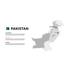 pakistan map infographic template slide vector image