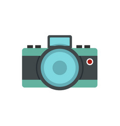 photocamera icon flat style vector image