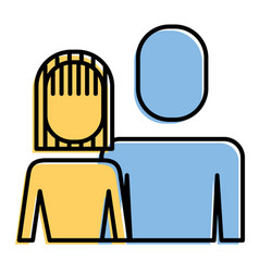 portrait woman and man team work character vector image