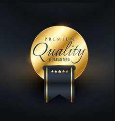 Premium quality guarentee golden label design vector