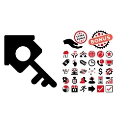 Realty Access Flat Icon with Bonus vector image