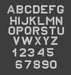 retro alphabet font vector image
