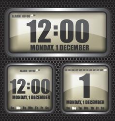 Retro digital clock vector image