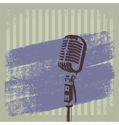 Retro Microphone Brush 2 vector image