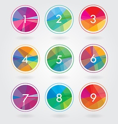 Round number templates vector