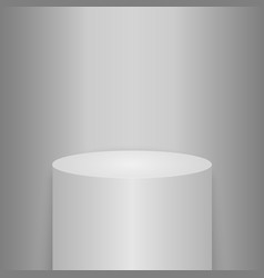Round podium or pedestal vector