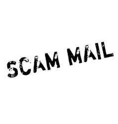 scam mail rubber stamp vector image
