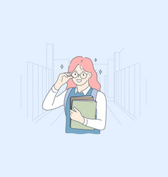 school education childhood study learning vector image