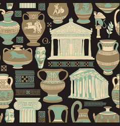 seamless pattern on theme ancient vector image