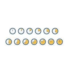 Set clocks timers minutes left seconds left vector