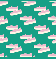 slipon shoes pattern vector image
