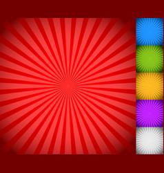 Sunburst starburst background set colorful rays vector