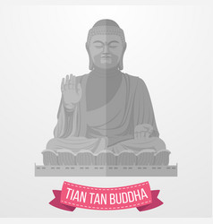 tian tan buddha icon on white background vector image