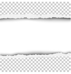 torn snatched window in sheet of any color paper vector image