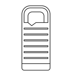 Tourist sleeping bag icon outline style vector