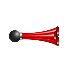 Triple air horn in red design vector