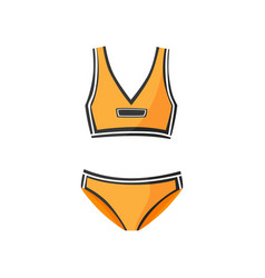 two-piece sports swimsuit for women clothing vector image