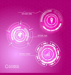 virtual futuristic infographic concept vector image