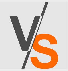Vs versus vs letters logo vector