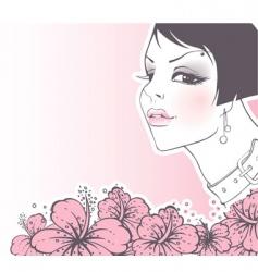 women flowers vector image