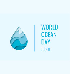 world ocean day - concept vector image vector image