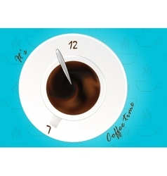 A cup of black coffee or chocolateRealistic vector image