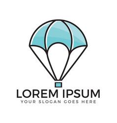air balloon logo vector image