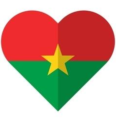 Burkina Faso flat heart flag vector image