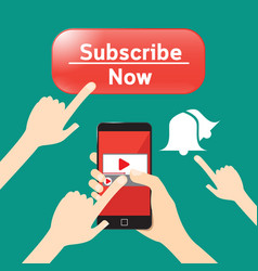 button subscribe and news feed important to vector image vector image