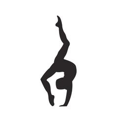 Gymnastics silhouette vector image vector image