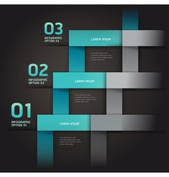 Modern infographics arrow origami style vector image vector image