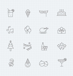 Party thin line symbol icon vector image
