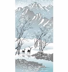 seasons winter vector image vector image