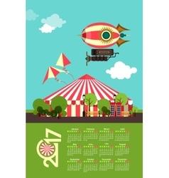 Calendar 2017 Carnival vector image vector image