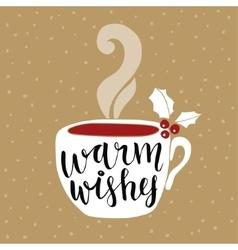 Christmas New Year greeting card invitation vector image vector image