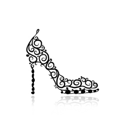 Female shoes sketch for your design vector image vector image