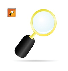 magnifier glass color vector image vector image