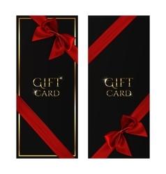 Black gift voucher templates vector image vector image
