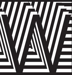 letter w design template vector image