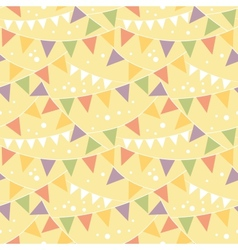 Party Decorations Bunting Seamless Pattern vector image