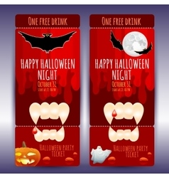 ticket on a Halloween party vector image vector image