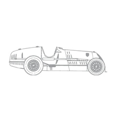 vintage race car vector image