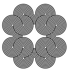 Black and white spiral background vector image vector image