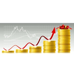 Concept of capital growth vector image
