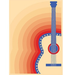 Concert guitar poster music festival vector image vector image