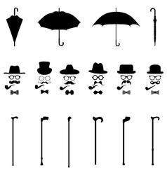 icon of gentleman vector image