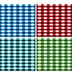 Seamless Cross weave Brick Pattern vector image