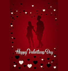 valentines day background happy holiday lettering vector image