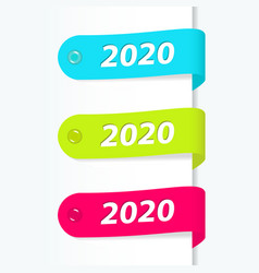 2020 new year labels vector