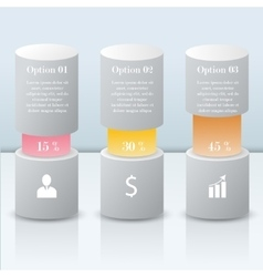3D Infographic modern bars vector image